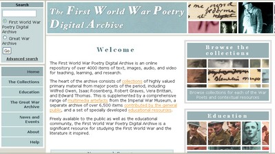 World War Poetry Archive