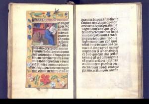 Foto 2. Ms. 1859. Llibre d'hores. Segle XVI. Sobre vitel·la