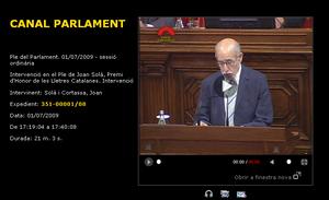 Joan Solà Canal Parlament
