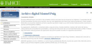 Archivo Digital Manuel Puig