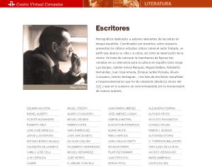CVC. Escritores