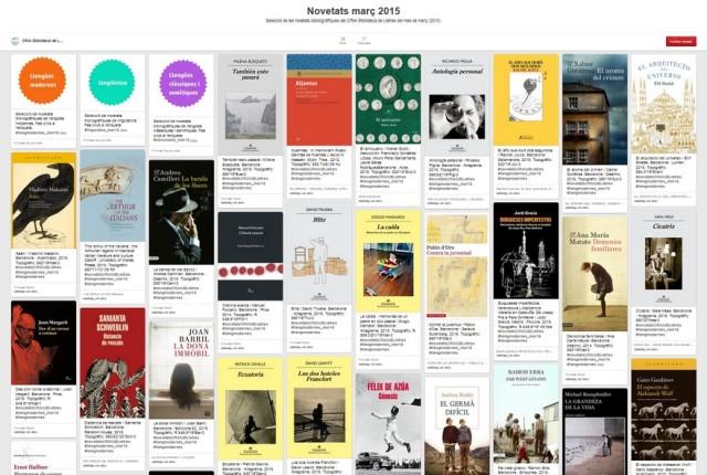 novetats destacades CRAI Lletres març 2015 - Pinterest