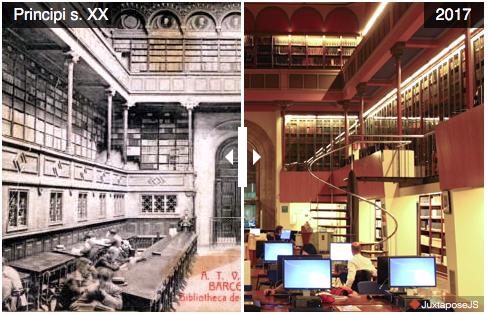 Biblioteca de Lletres a principi del s. XX