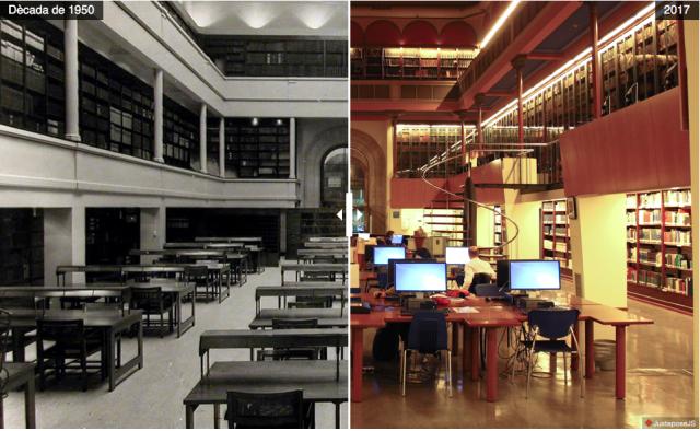 Biblioteca de Lletres - Dècada de 1950