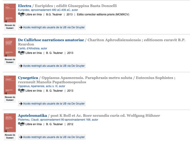 Col·lecció Bibliotheca scriptorum Graecorum et Romanorum Teubneriana