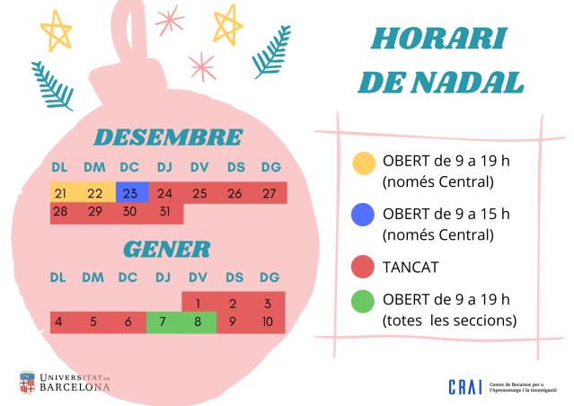 Calendari de Nadal 2020 CRAI Lletres