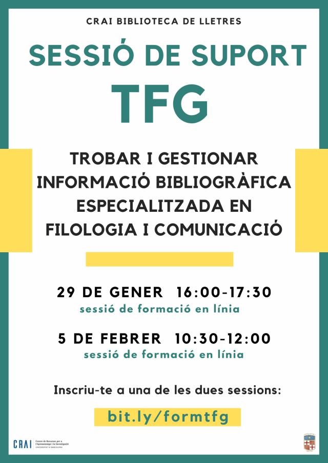 Sessió de suport al TFG (Filologia i Comunicació)